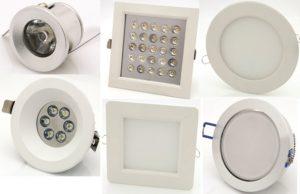 LED луни от 1 до 18w